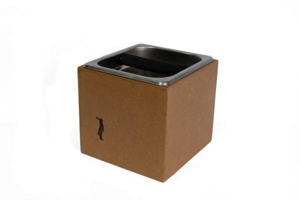 knock box para desperdicio de café